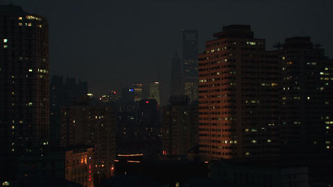 Downtown Shanghai time lapse Footage