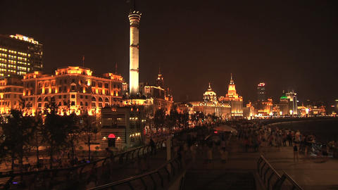 The bund time lapse Stock Video Footage