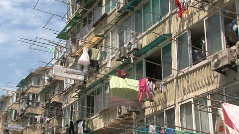 Houses downtown Shanghai Footage