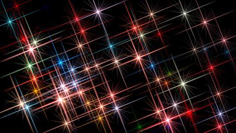Colorful flashing stars Footage