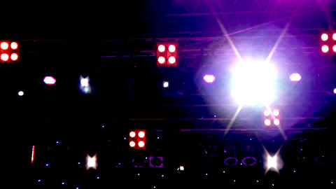 Lighting equipment at the concert Stock Video Footage