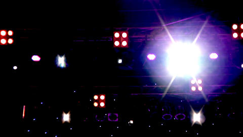 Lighting equipment at the concert Footage