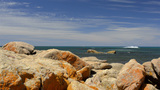 Rocks At Bunker Bay, Australia stock footage