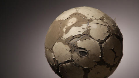 Old Soccerball, Seamless Rotation stock footage