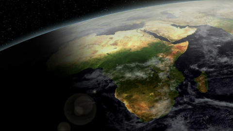 3D Satellite View of Africa Animation