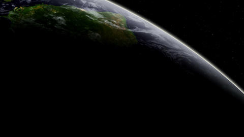 3D Satellite View Over South America Stock Video Footage
