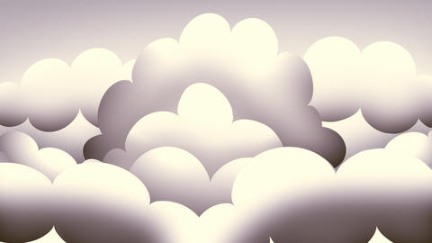 Loopable Retro Clouds Animation