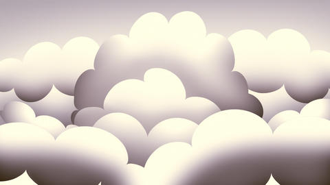 Loopable Retro Clouds Stock Video Footage