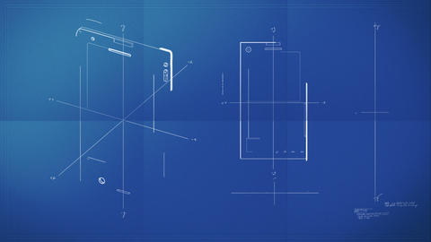 Smartphone Blueprint Stock Video Footage