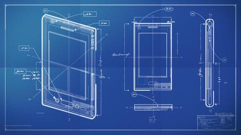 Smartphone Blueprint Stock Video Footage