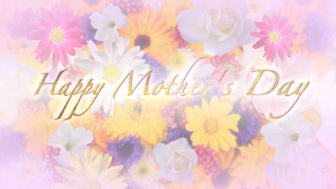 Happy Mother's Day Title and Background Stock Video Footage