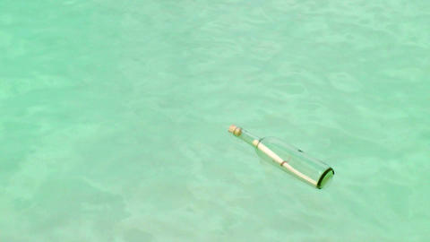 Message In A Bottle on a Tropical Beach Footage