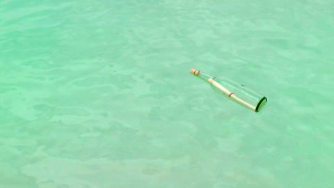 Message In A Bottle on a Tropical Beach Stock Video Footage