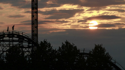Timelaspe of close up sunset at a amusement park Stock Video Footage