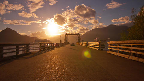 The Dock of Porteau Cove, BC, Canada. Shot on a Cl Stock Video Footage