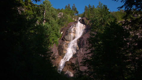 Shannon Falls Provincial Park is a provincial park Stock Video Footage