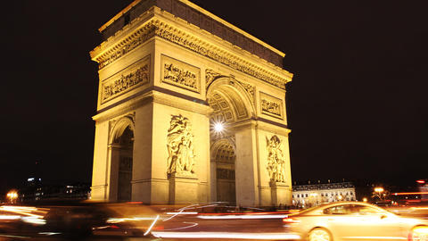 Triumph Arch, Paris Footage