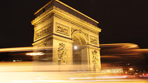Triumph Arch, Paris Stock Video Footage