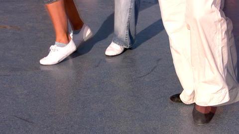 Legs of jazz dancers Stock Video Footage