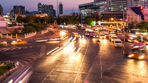 TRAFFIC AT DUSK, BANGKOK Stock Video Footage