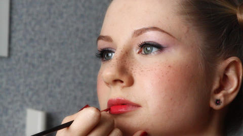 makeup for a model Footage