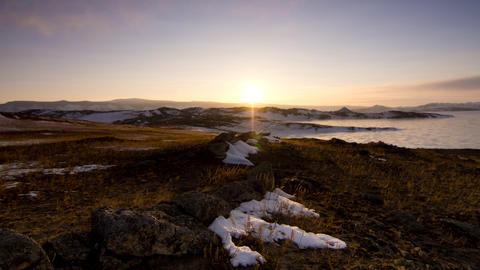 Arctic dawn Footage