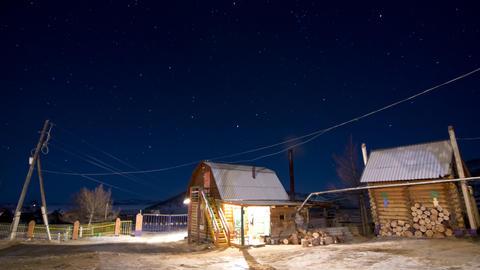 Night landscape 2 Stock Video Footage