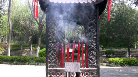 Chinese Incense Stock Video Footage
