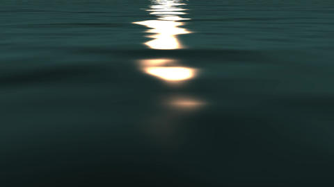 sun reflecting on ocean Animation