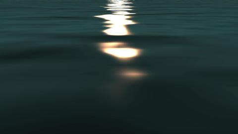 sun reflecting on ocean Animation