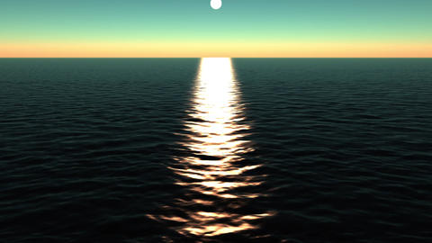 sun reflecting on ocean Stock Video Footage