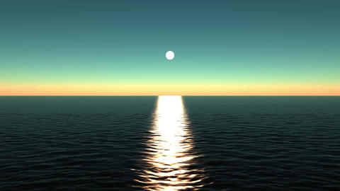 sun reflecting on ocean Stock Video Footage