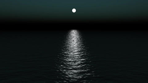 moon light reflect on ocean Stock Video Footage