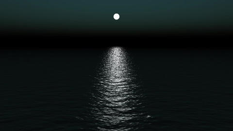 moon light reflect on ocean Stock Video Footage