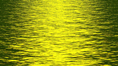 shine golden light reflecting on ocean Stock Video Footage