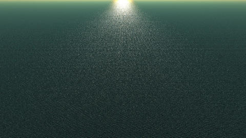 panoramic wide shine wave sea,sunlight reflecting on ocean Animation
