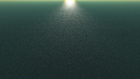 panoramic wide shine wave sea,sunlight reflecting on ocean Stock Video Footage