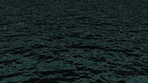 ocean waves & shine light at night Animation