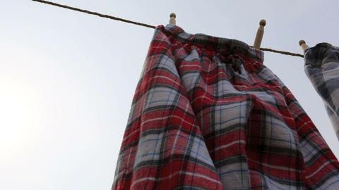 Red Pyjamas Drying HD Stock Video Footage