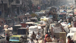 Chaotic street in Islamabad Stock Video Footage