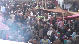 Busy bazaar in Kashgar, China Stock Video Footage