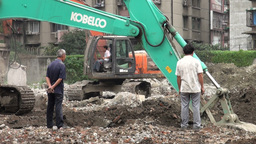 Chengdu demolition site, China Stock Video Footage