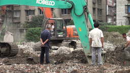 Chengdu demolition site, China Footage
