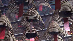 Incense, religion, Buddhism, beautiful, Hong Kong, Stock Video Footage