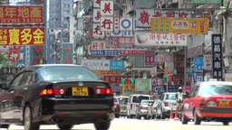 Cyclist, bus, transport, Hong Kong, city, urban Stock Video Footage