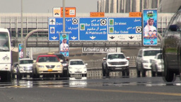 Dubai highway Footage