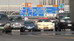 Dubai highway Stock Video Footage