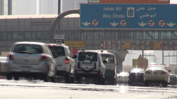 Dubai traffic signs Footage