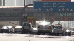 Dubai traffic signs Stock Video Footage