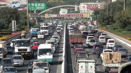 Massive traffic jam in Chinese city Stock Video Footage